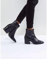 Vagabond - Olivia Black Leather Ankle Boot - Lyst
