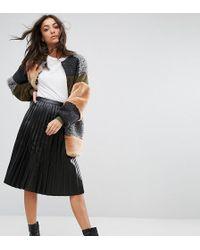 Noisy May Tall - Pleated Vinyl Skirt - Lyst