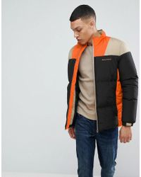 Bellfield - Puffer Jacket In Colour Block - Lyst