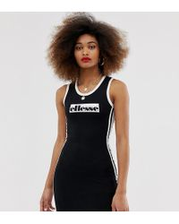 937c35e96a7 Ellesse Heritage Basketball Dress With Contrast Stripe And Logo in ...