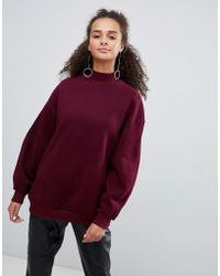 Bershka - High Neck Oversized Sweater - Lyst