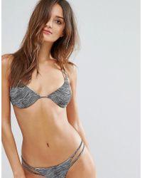 RVCA - Hi Tide Print Triangle Bikini Top - Lyst