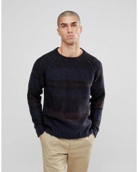 Only & Sons - Knitted Jumper With Mixed Stripe Detail - Lyst