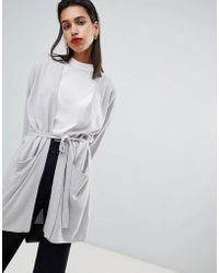 French Connection - Capsule Belted Cardigan In Cashmere Lambswool Blend - Lyst