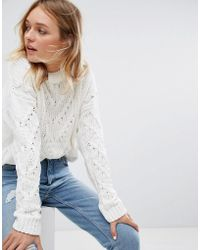 Pull&Bear | Chenille Cable Knitted Sweater | Lyst