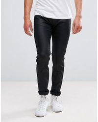 HUGO - Hugo 734 Super Stretch Coated Jeans In Black - Lyst