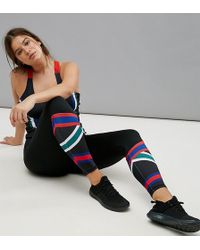 South Beach - Plus Stripe Gym Legging - Lyst