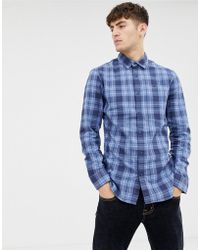 Tommy Hilfiger - Checked Slim Fit Logo Shirt - Lyst