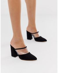 London Rebel - Heeled Clear Mules - Lyst