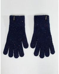 Penfield - Highgate Knit Gloves Multi Fleck In Navy - Lyst