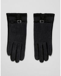 Barneys Originals - Suede & Cord Mix Gloves - Lyst