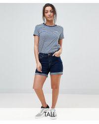 09dc67680a Lyst - Noisy May Tall Boyfriend Ripped Shorts in Blue