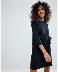 Monki - Pocket Front T-shirt Dress - Lyst