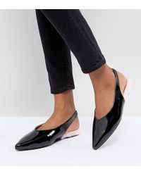 Monki - Patent Pointed Sling Back - Lyst