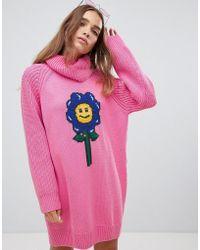 Lazy Oaf - Flower Power Sweater Dress - Lyst