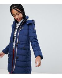 Esprit - Doudoune boutons style duffle-coat avec capuche doublure chine - Lyst