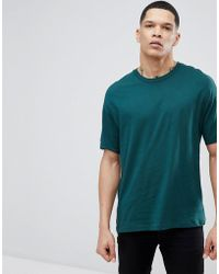 Bershka - Oversize Fit T-shirt In Green - Lyst