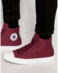 Converse - Chuck Taylor All Star Ii Hi-top Plimsolls In Red 150144c - Lyst
