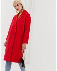 Vero Moda Double Breasted Coat - Red