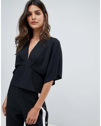 ASOS - Plunge Top With Batwing - Lyst