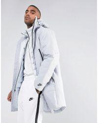 Nike - Aeroloft Down Filled 2 In 1 Coat In Grey 863730-012 - Lyst