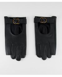 ASOS - Leather Gloves With Circle Detail Hardware - Lyst