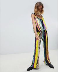 Native Rose - Flares In Rainbow Sequin - Lyst