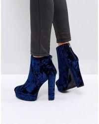 ALDO - Kasser Velvet Platform Boots - Lyst