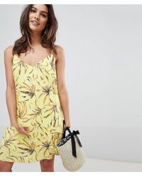 Vila - Printed Plisse Cami Dress - Lyst