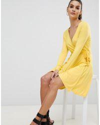 Ivyrevel - Wrap Front Jersey Skater Dress - Lyst