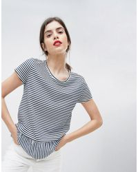 Esprit | Stripe With Bottom Frill Tee | Lyst