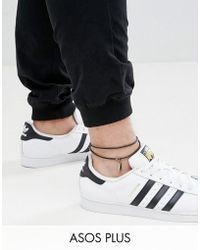 ASOS - Plus Leather Anklet With Feather - Lyst