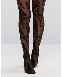 Ann Summers - Paisley Floral Tights - Lyst