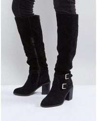 Miss Kg - Heeled Over The Knee Buckle Boot - Lyst