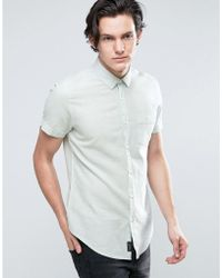 Threadbare | Cotton Linen Short Sleeve Shirt | Lyst