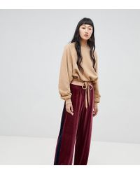 Weekday - Two-piece Colour Block Velvet Joggers - Lyst
