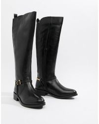 Dune - Upton Leather Knee Boots - Lyst