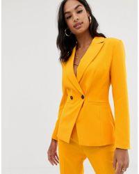 ASOS Americana de traje en naranja pop