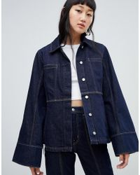 Weekday - Limited Collection Seamed Denim Coach Jacket - Lyst