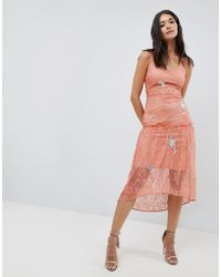 Hope and Ivy - Hope & Ivy Lace Embroidery Cami Dress - Lyst