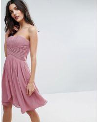 Y.A.S - Molly Mini Pink Dress - Lyst