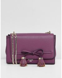 Dune - Essey Berry Cross Body Bag With Bow Tassel - Lyst