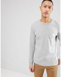 Esprit - Long Sleeve T-shirt With Branded Pocket - Lyst