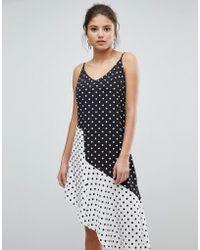 Missguided - Asymmetric Polka Dot Dress - Lyst