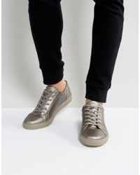 ASOS - Trainers In Silver Metallic - Lyst