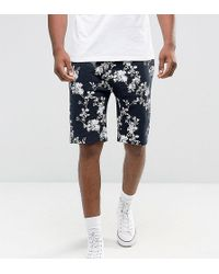 ASOS - Tall Skinny Shorts With Floral Print - Lyst