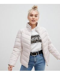 Miss Selfridge - Padded Jacket In Oyster - Lyst