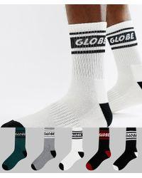 Globe - Logo Band Socks 5 Pack - Lyst