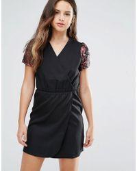 Louche - Direll Wrap Front Dress - Lyst