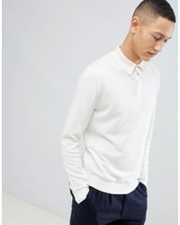 Reiss - Long Sleeve Knitted Polo - Lyst